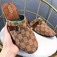 GUCCI Fashion New More Letter Flip Flop Slippers Shoes Women