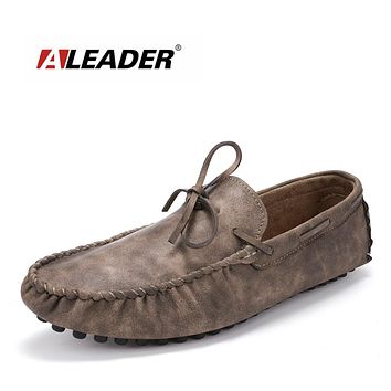 colors Mens Suede Loafers Slip On Casual Shoes Men Penny Loafers Driving moccasins for Men Black Luxury Leather Oxford
