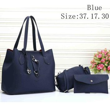 DCCKR2 Diesel fashion lady trend three-piece leather handbag F-XS-PJ-BB Blue