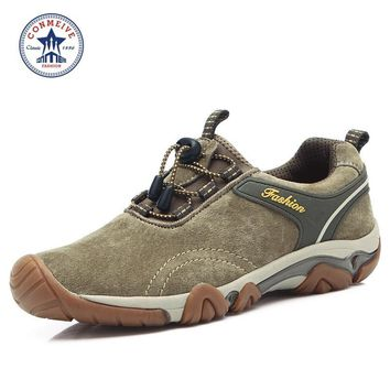hot sale zapatillas hombre outdoor trekking boots brand men shoes quality mountain climbing hiking breathable genuine leather