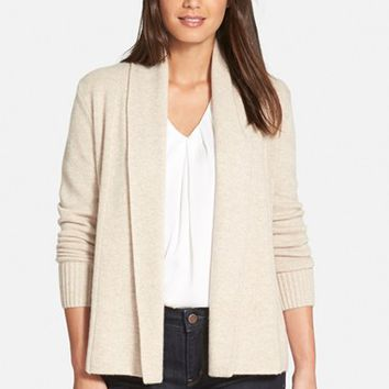 Women's Nordstrom Collection Cashmere Shawl Collar Cardigan,
