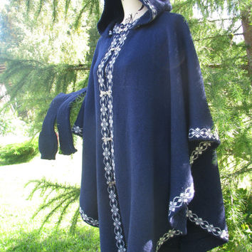 women ponchos boho poncho wraps shawls knit poncho hooded poncho dark blue poncho stylish poncho coat  woman poncho woman cape,wool sweater