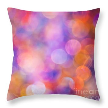 """The Colour of Happiness Throw Pillow for Sale by Jan Bickerton - 14"""" x 14"""""""