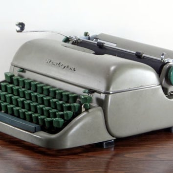 Reconditioned Remington Letter-Riter Vintage Typewriter - Working Remington Portable Typewriter - Olive Typewriter - Excellent Condition