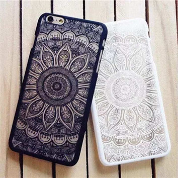 Beautiful Floral Henna Paisley Fashion Phone Case For iPhone 5 5S 6 6S 6Plus