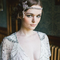 Great Gatsby Flapper style 1920's Vintage Headdress