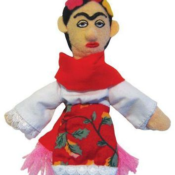 Frida Kahlo Refrigerator Magnet and Finger Puppet
