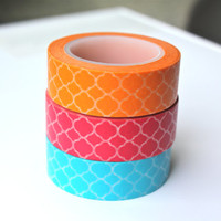 Washi Tape - Quatrefoil Washi Tape - Frame Washi Tape - Washi Tape Set - 10 Meters