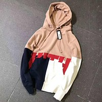 Kith Print Loose hoodies Sweater Pink I-A-XYCL
