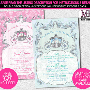 Baby Shower Invitations, Prince Baby Shower, Princess Baby Shower, Baby Shower Invitations, Royal Baby Shower, Invitations