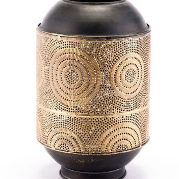 Espiral Candle Holder Small Antique Gold