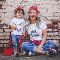 Mommy and Me Cool Mom and Cool Kid T Shirts