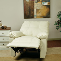 Kensington Cream Eco Leather Recliner KNS54