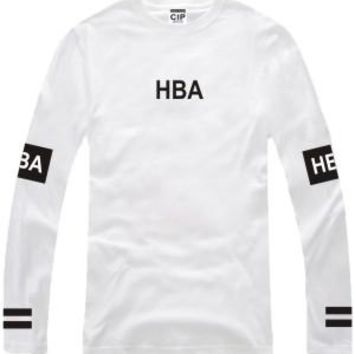 Men's Hood By Air Long Sleeve T Shirts Man HBA Hip Hop 100% Cotton O Neck T-shirts Been Trill Couple Lovers Camisetas Clothing