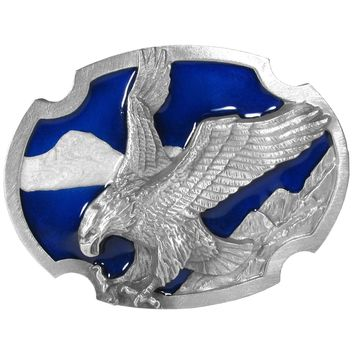 Sports Accessories - Eagle Landing Enameled Belt Buckle