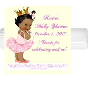 15 Princess Baby Shower Lip Balm Favors Dark Skin