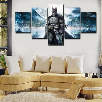Batman Dark Knight gift Christmas 5 Pieces Batman Movie Poster Wall Art Picture Modern Home Decoration Living Room Or Bedroom Canvas Print Painting Wall Picture AT_71_6