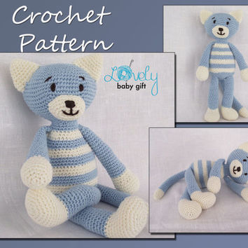 Crochet Pattern, Amigurumi, Cat Crochet Pattern, Animal Crochet Pattern, CP-110
