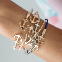 Anchor Cuff bracelet - color options