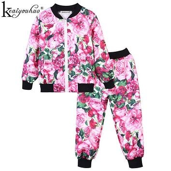 High Quality Toddler Girl Clothes Sets Children Clothing 2019 Autumn Winter Girls Clothes Sport Suits For Kids Clothes Tracksuit