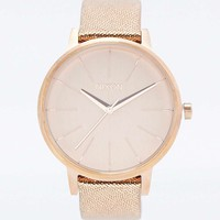 Nixon Kensington Rose Gold Leather Watch - Urban Outfitters