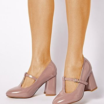 Sole Diva Slanted Heel Court Shoes E Fit | SimplyBe US Site