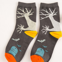 Black Halloween Socks for Women