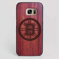 Boston Bruins Galaxy S7 Edge Case - All Wood Everything