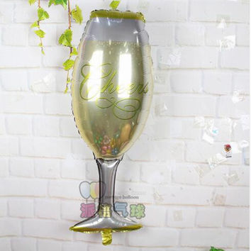 Liquer Glass Shaped Large Size Foil Balloon