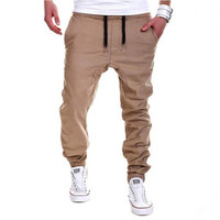 Mens Trousers  Casual Solid Pants Jogging Sweatpants Jogger
