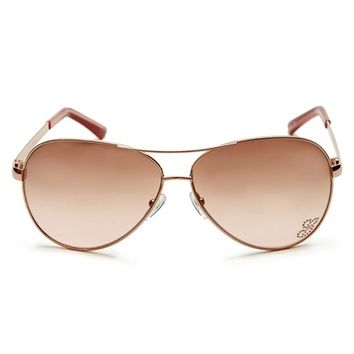 Kylie Aviator Sunglasses | GUESS.com
