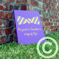 "11""x14"" Custom Southern Life Bow Tie Vinyl Canvas Board"