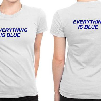 ESBH9S Halsey Everything Is Blue B 2 Sided Womens T Shirt