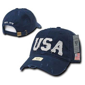 Ponce New Usa Flag Vintage America American Distressed Baseball Caps Hat Mens