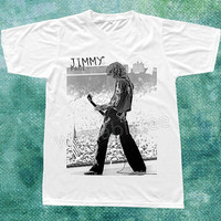 Jimmy Page TShirts Led Zeppelin TShirts Hard Rock TShirts Heavy Metal Shirts White Shirts Unisex Tee Shirts Women Tee Shirts Men Tee Shirts