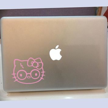 Hello Kitty Harry Potter Wall Sticker Laptop Car Decal Cartoon Cat Animal Cut Vinyl Kids Room Living Room Bed Room Home Decor