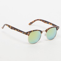 PacSun Kruz Tortoise Blue Flash Sunglasses - Mens Sunglasses - Brown - NOSZ