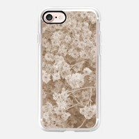 Casetify iPhone 7 Classic Grip Case - Daisies in sepia by littlesilversparks #iPhone 7