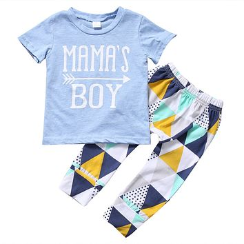 Mama's Boy Arrow Infant Baby T-Shirt And Long Pants