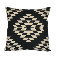 Aztec throw pillow covers 18x18 Black and white decorative pillowcases Tribal cushion case 22x22 Geometric cushion covers Outdoor cushions