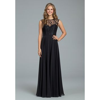 Hayley Paige Occasions 5812 Floor Length Lace and Chiffon Bridesmaids Dress