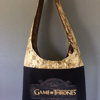 GAME OF THRONES - Upcycled Concert/ Band T-shirt Boho Purse - OoAK