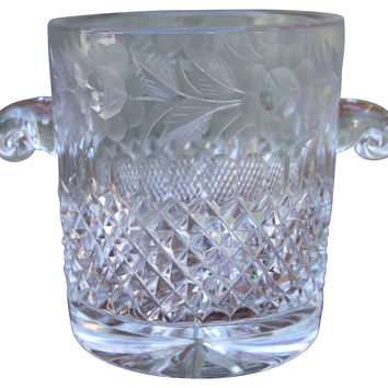 Cut Crystal Ice Bucket