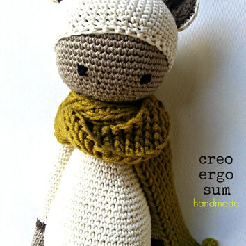 Amigurumi Doll, Crochet bear, Soft Toy, Textile Sculpture, art doll, for babies and kids