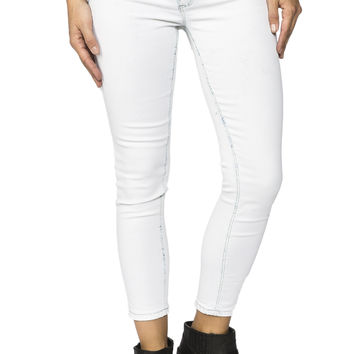 Girls Crop Jegging - Bleach