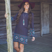 Star Light, Star Bright Dress in Dark Navy