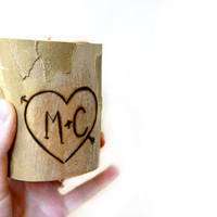 Personalized Wooden Candle Holder, Wooden Candle Holder, Heart and Initials Candle Holder, Couples Candle Holder, Wood Tea Light Holder