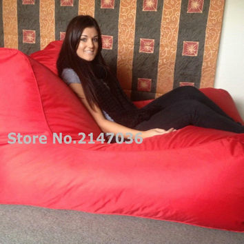 Sunbrella Indoor/Outdoor Bean Bag Chair in red, TV beanbag chair, Gamer bean sofa lounger