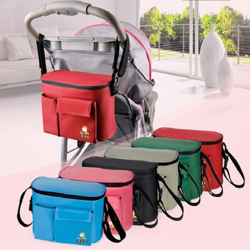2016 Real Nappy Bags Maintaining The Temperature Stroller Bags Maternity Mother Diaper Tote Shoulder Multifunctional Baby Bag