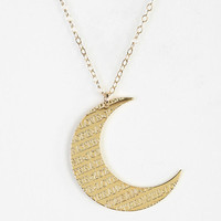 Miriam Merenfeld Script Moon Necklace - Urban Outfitters